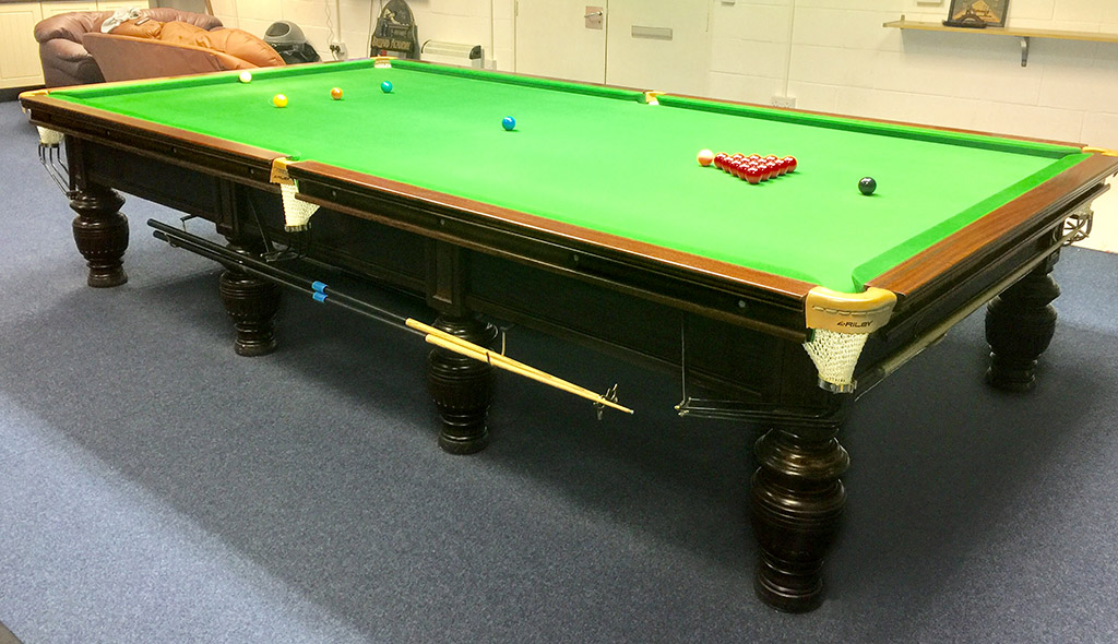 Burroughes & Watts Full Sized Record Snooker Table